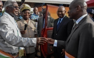 le ministre de l 39 interieur et de la securite a daloa pour